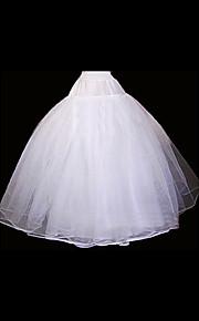חתונה אירוע מיוחד תחתונית  אורגנזה אורך עד לרצפה סליפ שמלת נשף עם
