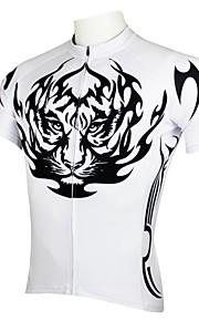 ILPALADINO Homme Manches Courtes Maillot de Cyclisme Bande dessinée / Animal Vélo Maillot, Séchage rapide, Résistant aux ultraviolets,