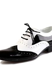 90 Pánské Společenské boty Kůže   PU Jaro   Podzim Pohodlné Oxfordské  Černobílá   Party 63a8c318ba