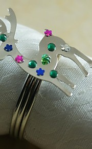 유리 미니 냅킨 링 패턴 환경친화적인 테이블 장식