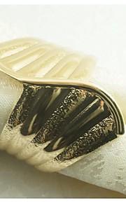 철 미니 냅킨 링 패턴 환경친화적인 테이블 장식
