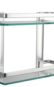 욕실 선반 콘템포라리 알루미늄 / 강화 유리 1개 - 호텔 목욕