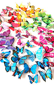 Tiere Wand-Sticker 3D Wand Sticker Dekorative Wand Sticker Lichtschalter Sticker Kühlschrank Sticker Hochzeits Sticker, PVC Haus