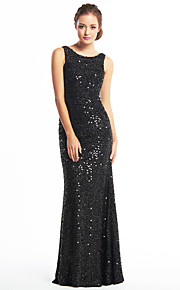 Mermaid / Trumpet Scoop Neck Floor Length Sequined Prom / Formal Evening Dress with Sequin by TS Couture®