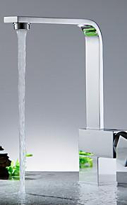 кухонный смеситель - Современный Никель Полированная Керамический клапан