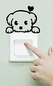 Landschaft Tiere Romantik Mode Formen Retro Worte & Zitate Cartoon Design Fantasie Wand-Sticker Tier Wandaufkleber Lichtschalter Sticker,