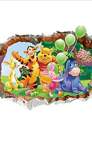 Tiere Cartoon Design Wand-Sticker 3D Wand Sticker Dekorative Wand Sticker, PVC Haus Dekoration Wandtattoo Wand