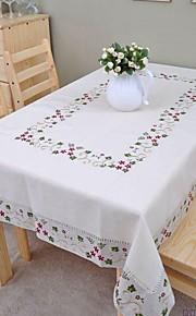 Liinavaatteet Table Cloths Kukka Kirjottu Korkealaatuinen Pöytäkoristeet