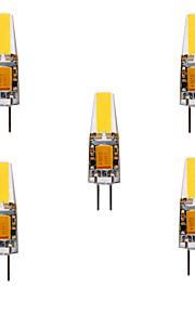 YWXLIGHT® 5pcs 5W 460lm G4 LED-lamper med G-sokkel MR11 4 LED Perler COB Vandtæt Dekorativ Varm hvid Kold hvid Naturlig hvid 24V 12V
