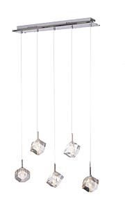 5 lumières Grappe Lampe suspendue Lumière d'ambiance - Cristal, 110-120V / 220-240V Ampoule incluse / G4 / 15-20㎡