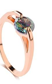 Damen Bandring - Modisch Silber Golden Ring Für Hochzeit Party Alltag Normal