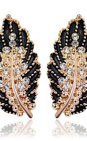 Dame 1 Dråbeøreringe Mode Legering Bladformet Smykker Hvid Sort Grøn Lys pink Bryllup Fest Kostume smykker