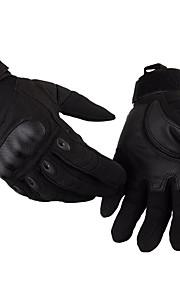 černé hawk taktické plné prst rukavice proti skluzu nositelný motocykl venkovní armádní rukavice nylon + bavlna + hadřík