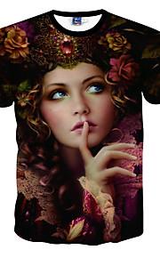 Ανδρικά T-shirt Αθλητικά Πορτραίτο Στάμπα Μαύρο L / Κοντομάνικο