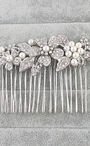 Napodobenina perel Štras Vlasy Hřebeny 1 Svatební Zvláštní příležitosti Přílba