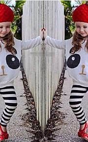 Toddler Dívčí Animák / Zvířecí potisk Tisk Dlouhý rukáv Standardní Bavlna / Polyester / Spandex Sady oblečení Bílá