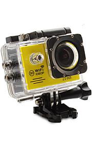 """Action Kamera / Sportskamera 12MP 1920 x 1080 Wifi USB Justerbar G-Sensor Vandtæt Alt i en Vidvinkel 60fps 4X 2"""" 32GB H.264 Engelsk"""
