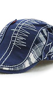 男性用 活発的 パッチワーク ベレー帽