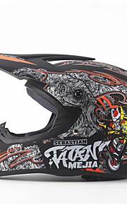 mejia terénní motocyklová závodní helma lesk černá plná tvář tlumící odolná motorová helma