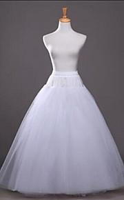 Bröllop Fest / afton Underklänningar Bomull Polyester Tyll Golvlång Telång Glansig A-linjeformad Underkjol/klänning Balklänning Underkjol