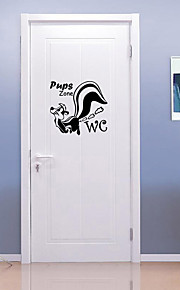 Dyr Mode Vægklistermærker Fly vægklistermærker Dekorative Mur Klistermærker Toilet klistermærker, Vinyl Hjem Dekoration