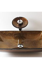 Antico Rettangolare Materiale del dissipatore è Vetrotemperato Lavandino bagno