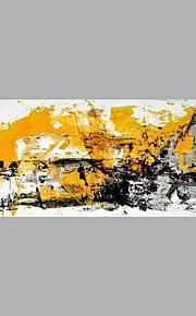 Hang malte oljemaleri Håndmalte - Abstrakt Abstrakt Lerret
