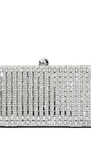 Women's Bags PU Evening Bag Crystal Detailing for Wedding Event/Party All Seasons Gold Black Silver
