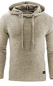 Bărbați Activ / De Bază Mărime Plus Size Pantaloni - Mată Supradimensionat Gri Închis / Capișon / Sport / Manșon Lung / Primăvară / Toamnă