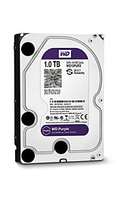 WD® Hard Diske WD10PURX 1TB(IntelliPower 64MB Cache) purple drive 3.5-inch HDD surveillance for CCTV NVR for Sikkerhed Systemer 18*13cm