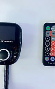 bt002 universele draadloze auto mp3 audio speler bluetooth fm zender met afstandsbediening handsfree lcd scherm usb oplader