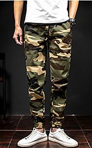 Ανδρικά Καθημερινό / Στρατιωτικό Βαμβάκι Λεπτό Αθλητικές Φόρμες Παντελόνι - Patchwork Γκρίζο / Άνοιξη / Φθινόπωρο / Σαββατοκύριακο