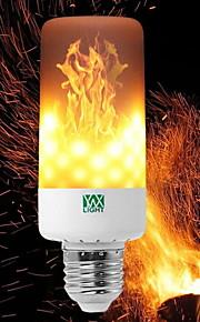 YWXLIGHT® 6W 550-600lm E14 E27 E12 B22 LED-kolbepærer T 99 LED Perler SMD 3528 Dæmpbar Flamme Flimrende Dekorativ Varm hvid 85-265V