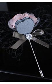 Homme Femme Broche Coloré Mode Tissu Alliage Fleur Couleur Assortie Bijoux Pour Mariage Soirée
