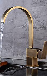 кухонный смеситель - Античный Античная медь Высокий / High Arc По центру / Одной ручкой одно отверстие