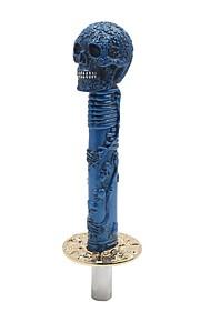 10,6 lang blå kraniet hoved design manuel gearskifte knap shifter håndtag til bil