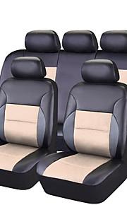 Sædeovertræk til din bil Sædebetræk Beige Sort/Brun Sort/Rød Lys pink Sort/Blå PVC Forretning Normal for Universel Universal Alle år