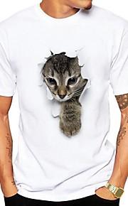 T-shirt Per uomo Romantico Moda città Con stampe, Animali