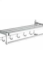 Prateleira de Banheiro Dobrável Multifunções Moderna Alumínio 1pç - Banheiro Montagem de Parede