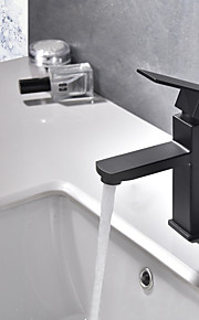 욕실 싱크 수도꼭지 - 와이드 스프레드 페인팅 주방,욕조수전(Centerset) 싱글 핸들 하나의 구멍