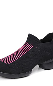 Mujer Zapatillas de Baile Punto Zapatilla Tacones Alto Al aire libre Entrenamiento Tacón Bajo Negro Gris Rojo oscuro 1 - 1 3/4inch