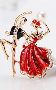 Per donna Spille Strass Lega Principessa Rosso Blu Cartone animato Di tendenza Europeo Gioielli Regalo Quotidiano Bigiotteria
