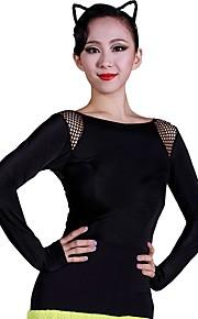 Латино Балетное трико Жен. Учебный Ice Silk (искусственное волокно) Кружева Длинный рукав трико / Комбинезон-пижама
