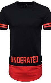 T-shirt Per uomo Attivo Essenziale Con stampe, A strisce Monocolore Alfabetico