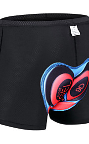 Malciklo 남성용 싸이클 이너쇼츠 자전거 속옷 반바지 패드 반바지 통기성 빠른 드라이 인체 해부학적 디자인 스포츠 폴리에스테르 엘라스틴 블랙 / 옐로우 / 블랙 의류 자전거 의류 / 스트레치