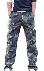 男性用 ストリートファッション チノパン / カーゴパンツ パンツ - カモフラージュ グリーン
