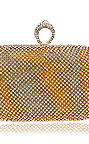 Naisten Kristallikoristelu Iltalaukku Rhinestone Crystal iltapusseja Polyesteri / Metalliseos Kulta / Musta / Hopea / Syystalvi