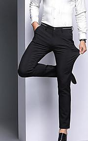 男性用 ベーシック スーツ パンツ - ソリッド ハイウエスト ブルー