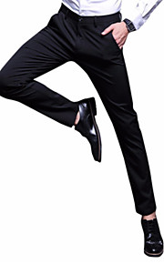 男性用 スリム スーツ パンツ - ソリッド ブルー