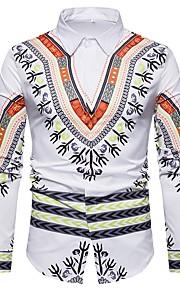 Муж. Рубашка Винтаж Этно Белый L / Длинный рукав